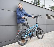 Finden Sie bei einer Probefahrt mit Falt- und Kompakt e-Bike heraus wie sich das Fahren für Sie anfühlt