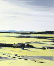 Matthieu van Riel. Schilderij. Zweeds landschap 120x100cm olie op doek 2011