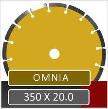 prodito omnia slijpschijf 350mm universeel voor gebruik op een benzine doorslijper met 20.0mm opname