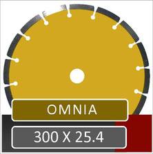 prodito omnia slijpschijf 300mm universeel voor gebruik op een benzine doorslijper met 25.4mm opname