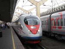 Sapsan, Moskauer Bahnhof
