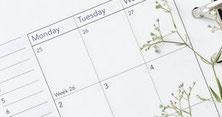 Kalender zur Terminvereinbarung