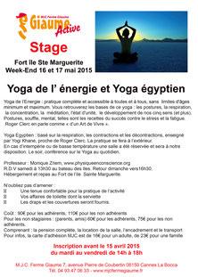 Stage Yoga Îles de Lérins, 16 et 17 mai 2015