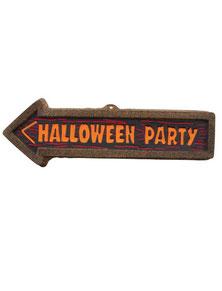 Wanddecoratie Halloween Party € 2,25 57x3x18 cm