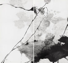 盛塘荷18   LONG LOTUS 18 175X186CM  绢本水墨 INK ON SILK 2008 (收藏于上海 COLLECTED IN SHANGHAI)