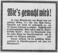Göttinger Zeitung, 10.01.1919. StA Göttingen