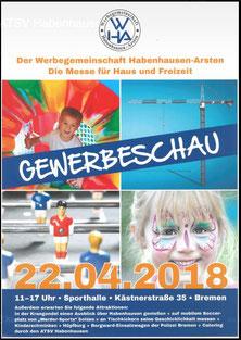 Internetwerbung für die 2. Gewerbeschau der Werbegemeinschaft Habenhausen-Arsten am 22.04.2018