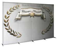 Displaywand aus Pappe zum Stecken
