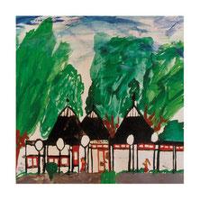 Das Spielhaus, von einem Kind gemalt