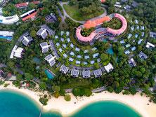 Top Resort Hotel mit Strandlage auf Sentosa Island zum entspannen und Top Pool.