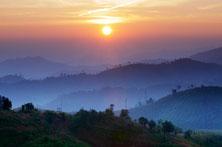 Sonnenaufgang in Kanchanaburi