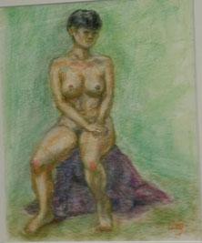 裸婦 パステル8号