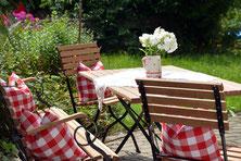 Ferienhaus in Oberstdorf, Ferienhaus Sehrwind – Garten