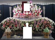 調布市 格安家族葬 生花祭壇