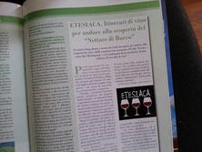 Etesiaca su Maremma Magazine, Settembre 2016. Itinerari di vino