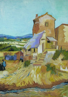 the old mill, Vincent Van Gogh, oil on canvas, 50x70 cm, 2013