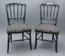 marylinegrac- tapissier d'ameublement-Chaise Napoléon III. Rénovation complète