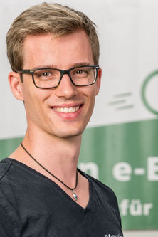 Luca aus dem Lastenfahrrad-Zentrum Frankfurt