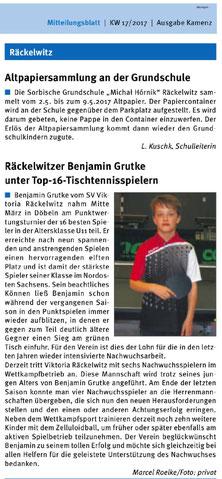 Mitteilungsblatt | 29.04.2017