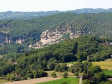 La Roque-Gageac vue depuis les hauteurs de Domme