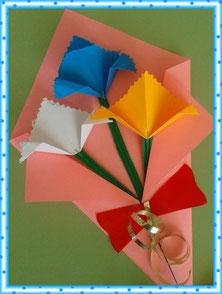 Бумажный букетик для мамы