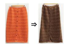 ▲アクリル80%ナイロン20% ニットスカート 黒染め
