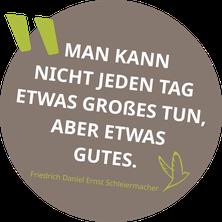 Zitat Friedrich Daniel Ernst Schleiermacher im Zitat-Kreis mit ZUGvogel