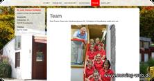 Webseite mit Teamvorstellung