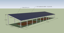 halle sport photovoltaïque gratuit