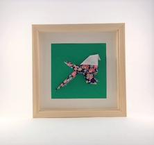 Cadre mural origami Mésange ELO DECO ATELIER decoration chambre enfant cadeau naissance