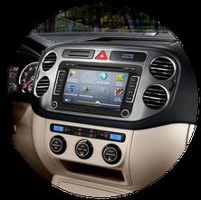 Navigationsgerät / Naviceiver AL-CAR EASINAV Drive für Fahrzeuge der Marken Volkswagen, SEAT und Skoda