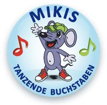 Mikis tanzende Buchstaben Logo