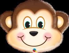 Luftballon Ballon Heliumballon Folienballon Ballongeschenk Ballongruß Geburtstag Kindergeburtstag Deko Dekoration Affe Tierkopf Tier Kopf