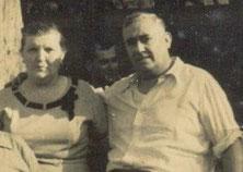O Corviño e a súa dona. Arxentina anos 60. Foto cedida por G. Loureiro