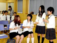 日台高校生の親睦を深める交流会=八商工