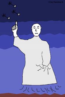 Geister können gute wie auch schlechte Absichten haben. Die Geister Propheten sind hier als schlechtes Ohmen zu deuten. Sie tauchen dann auf, wenn ein Schicksal (z.B. einer Stadt) unabwendbar ist.