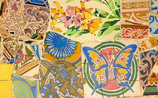 Mosaique - Park Guell - Barcelone