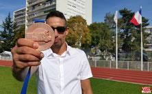 Rachid FARID et sa médaille de bronze.
