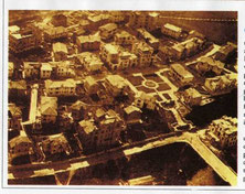 Aerial view of Garbatella district, 1920