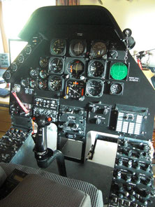 Bell 209 AH-1F main panel console