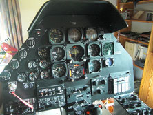 Bell 209 AH-1F CB breaker panel right console