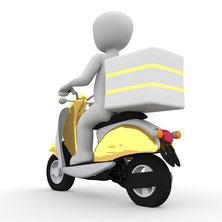 Person auf Motorroller