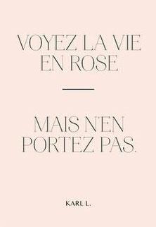 Le rose et Karl Lagerfeld