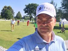 Das Putting Green während der Challenge Tour am Beckenbauer Course im Hartl Resort Bad Griesbach