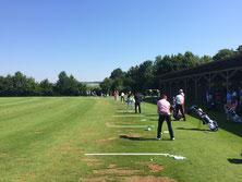 Driving Range während der Challenge Tour am Beckenbauer Course im Hartl Resort Bad Griesbach