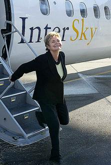 Kein Erfolg: Intersky-Chefin  Renate Moser zog von Belp weg.