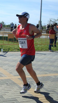 Rafa Carmona en la pasada media maratón de Málaga.