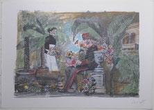 """Emanuele Luzzati """"diario di una cameriera"""" Octave Mirbeau"""