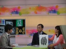 ※ピクトグラムを開発している当時のようすを版画作品にしました。NHKのみなさんには、ずい分とよろこんでいただいたようです。