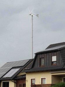 Kombination Solar PV und Klein Windkraftanlage nur sinnvoll mit Windmessung vorher